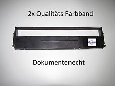 2x Farbband f Epson LQ580 Epson LQ870 schwarz druckend aus Nylon fusselfrei