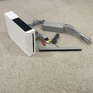 Nintendo Wii Console RVL-001 White Gamecube System AC Power Sensor AV Tested