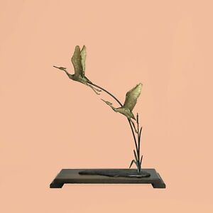 Heron-Crane-brass-laiton-hollywood-regency-annees-70-DLG-Andre-Vincent-Becquerel