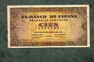 BILLETE-100-PESETAS-1938-SERIE-C6895047-MBC
