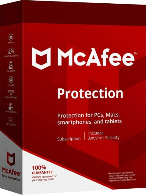 McAfee Protections 2019 Unlimited Devices All (Renewal or New Subscription)