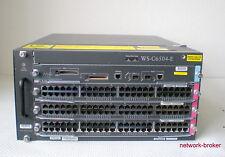 Cisco Switch Bundle WS-C6504-E + WS-SUP720-3B  3 x WS-X6748-GE-TX = 144 ports GB