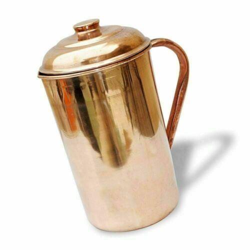 Kupfer Wasserkrug Kanne Krug Lagerung Ayurveda 1.5L Nutzen für die Gesundheit