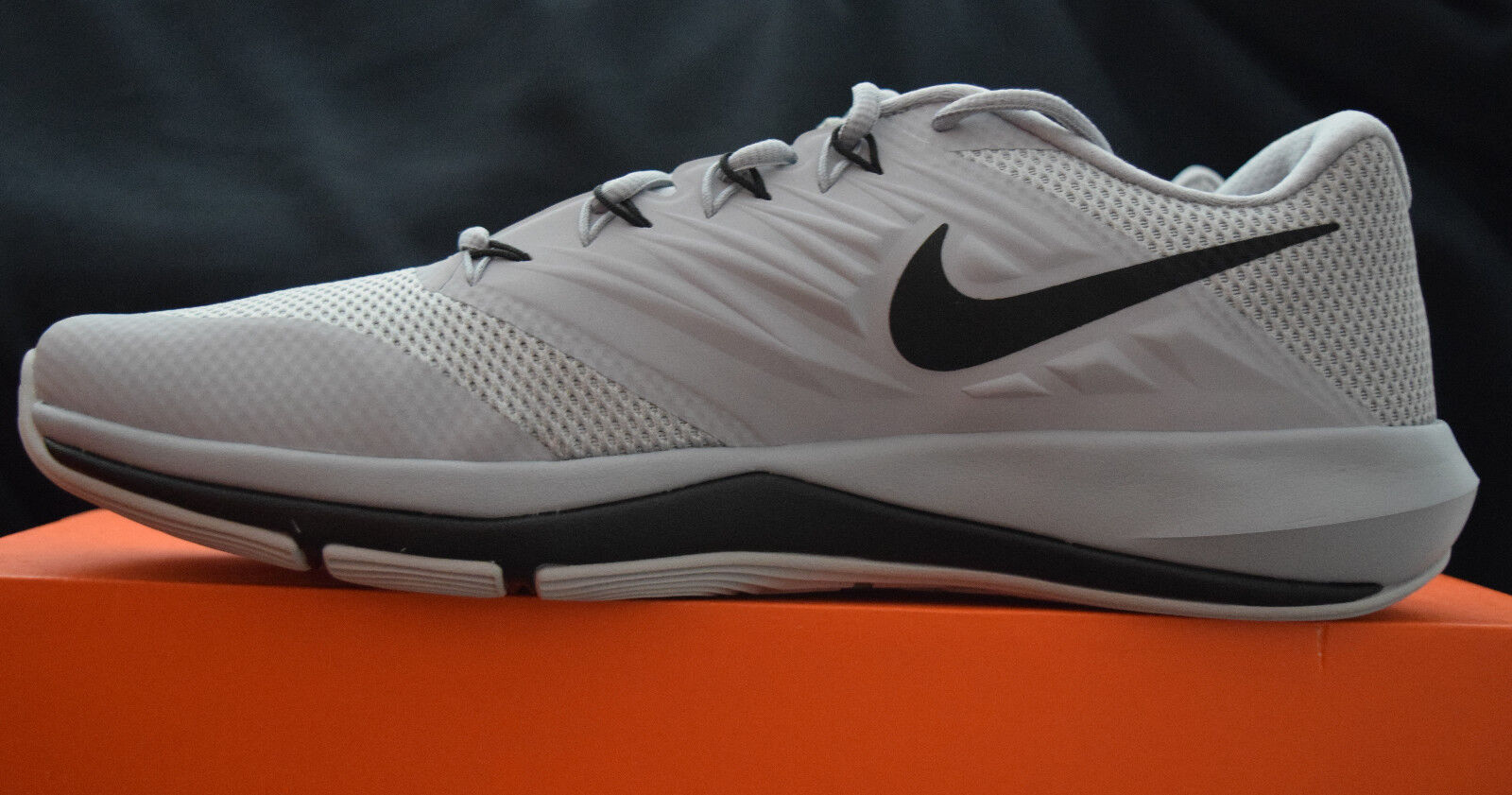 New In Box Nike Lunar Prime Iron II Mens Training Shoes Sz 13 Wolf Grey Black