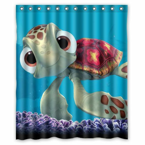 Brand New Finding Nemo Turtle Shower Curtain 60 x 72 Inch
