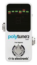 TC Electronic Polytune 2 Mini Guitar Pedal Tuner!