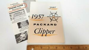 1957-PACKARD-Clipper-Owner-039-s-Manual-Accessory-Folder-NOS-US
