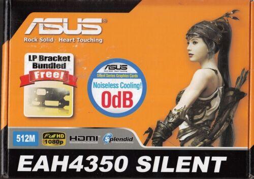 ASUS EAH4350 SILENT//DI//512MD2 PCIE-X16 RADEON HD4350 512MB VIDEO CARD 2PK! LP