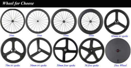 88mm Carbon Wheel Rear Clincher Race Cycling Full Carbon Road Bike Matte//Glossy