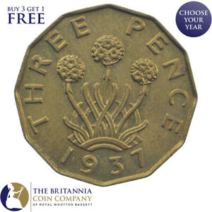 1937 to 1952 KING GEORGE VI BRASS THREEPENCE 3d - CHOOSE YOUR YEAR!