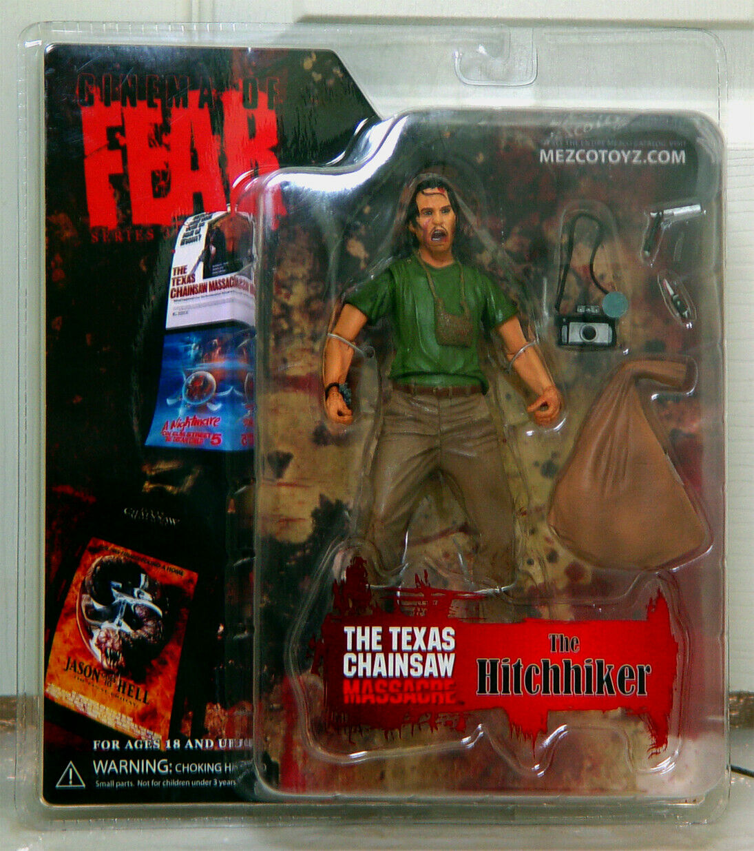 Mezco Cinema of Fear The Hitchhiker Figure Texas Chainsaw Massacre - SEALED 2008