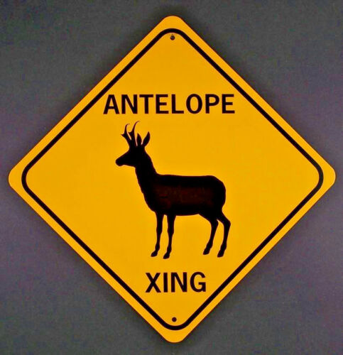 ANTELOPE XING Aluminum Pronghorn Sign Won/'t rust or fade