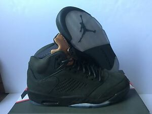f1de38e75694 2017 Nike Air Jordan 5 V Retro PRM Take Flight Olive Green Size 9.5 ...