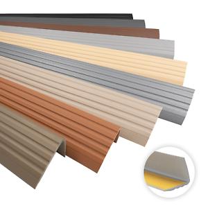 Treppenkantenprofil PVC Selbstklebend 41x25mm Kantenschutz 70-200cm Treppenkante