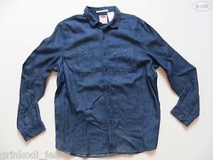 Levi-039-s-Jeans-Hemd-Jeanshemd-Gr-XL-NEU-Western-Style-Dark-Indigo-Denim-RAR