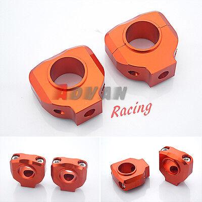 """Orange HANDLEBAR CLAMP 28mm 1-1/8"""" For KTM DUKE 125 200 390 2012-2013"""