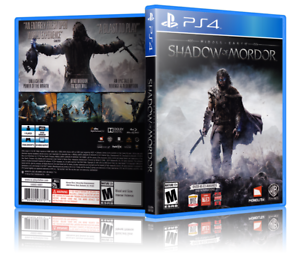Middle-Earth-Shadow-of-Mordor-Replacement-PS4-Cover-and-Case-NO-GAME