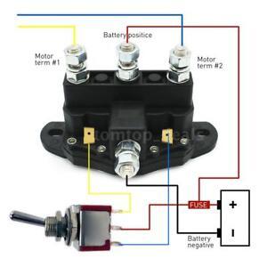 12 volt winch motor contactor reversing solenoid contactor relay 6 rh ebay com Reverse Winch Wiring Diagram Polarity Reversing Relay Automotive