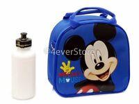 Disney Mickey Mouse Lunch Bag W/ Shoulder Strap & Water Bottle
