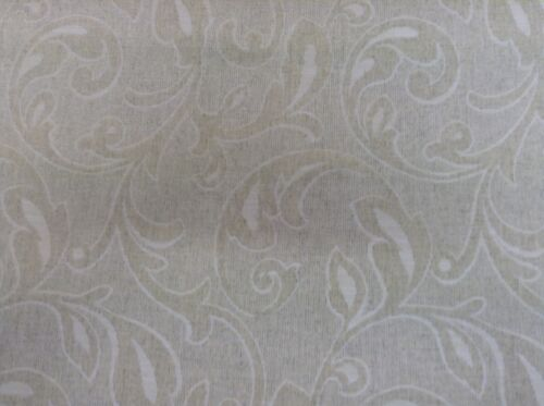 Damask Crest Linen  Oatmeal Cream By Swaffer  Curtain//Craft//Upholstery Fabric