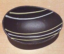 Alte,braune Schale, ca. 3 cm hoch, ca. 13,5 x 9,7 cm