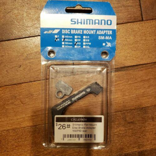 Shimano SM-MA Flat Mount Disc Brake Adapter 160mm Rear P//D