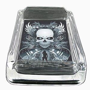 """2 Pack 4/"""" Skull ashtray #36"""