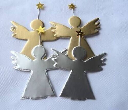 SET 4 GOLD /& SILVER ANGEL DIE CUTS FOR CARDS//CRAFTS
