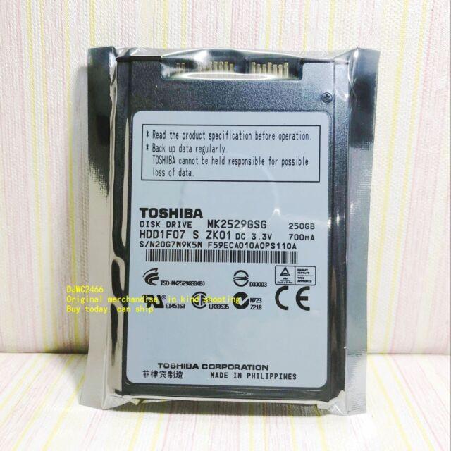 """Toshiba HDD1F07 250GB,Internal,5400 RPM,4.57 cm (1.8"""") (MK2529GSG) Desktop HDD"""