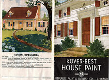 Kover Best Exterior House Paint 1949 Illustrated Brochure & Color Chart