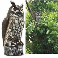 Gardeneer Horned Owl Decoy Scarecrow Fake Statue Garden Outdoor Natural Enemy