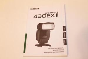 camera manual canon speedlite 430 ex ii flash instruction guide rh ebay com Briggs and Stratton 550EX Parts Briggs 550EX