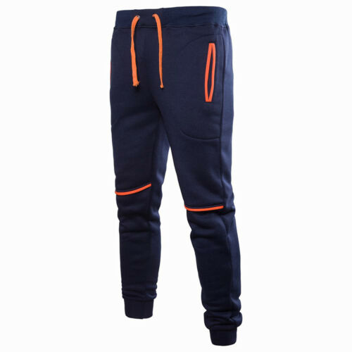 Mens Trousers Slim Tracksuit Gym Jogger Run Fitness Comfort Bottoms Sweat Pants