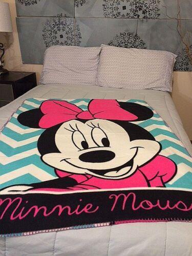 "Minnie Mouse Fleece Blanket Chevron  Fleece Blanket Fleece Blanket 40/"" x 50/"""
