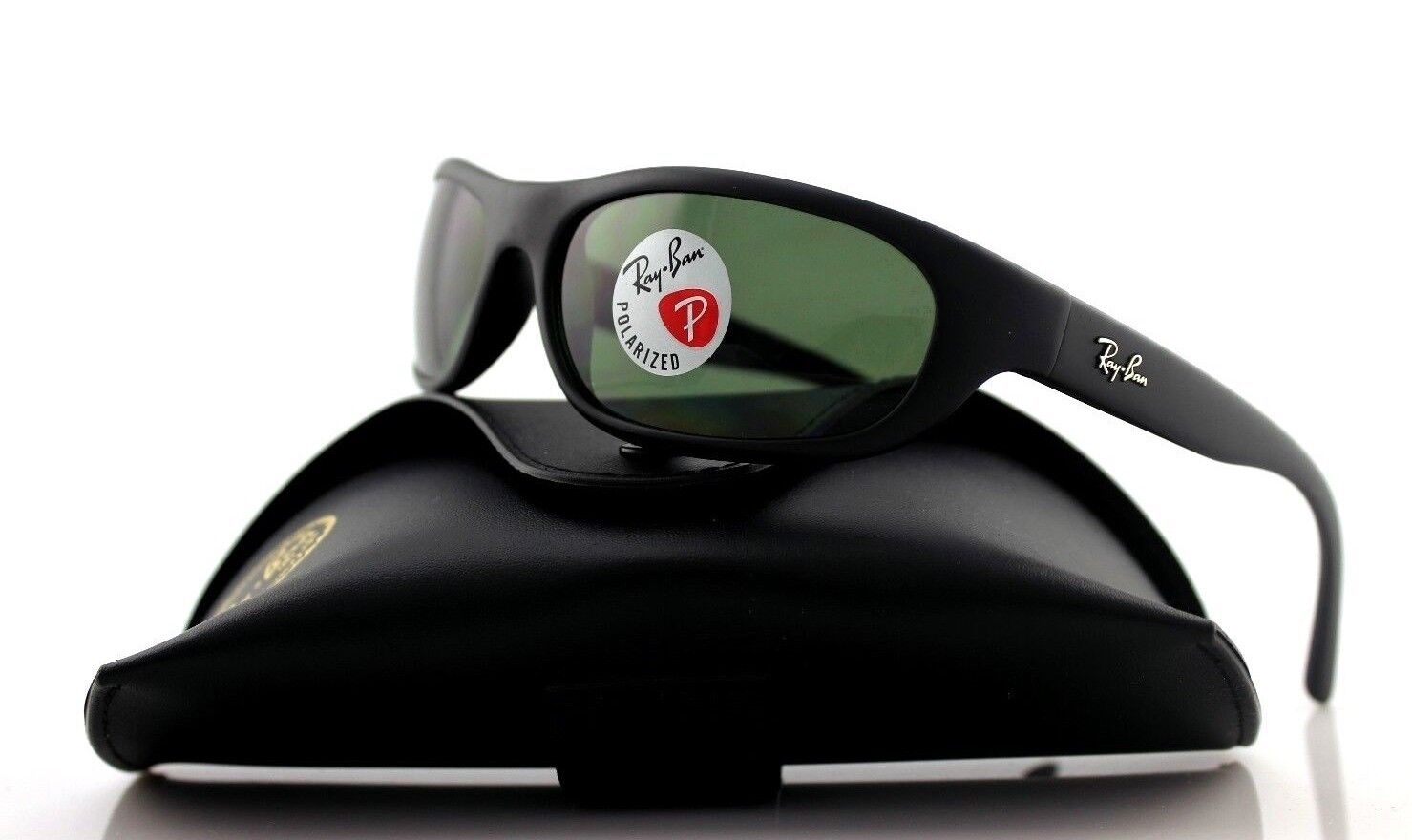 1d26a19d3b4a Ray-Ban Unisex Rb4033 Matte Black polar Green One Size Sunglasses ...