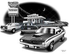 "BARRACUDA 1970 AAR CUDA MUSCLE AUTO CAR ART PRINT #4103 ""FREE USA SHIPPING"""