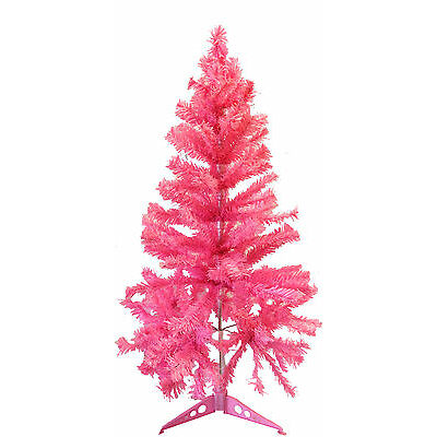 PINK CHRISTMAS TREE 2.9ft Height 1.5ft Wide Fake Tree Ambassador Tree & Stand