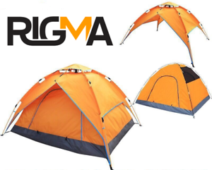Image is loading RIGMA-Automatic-C&ing-Tent-2-3-Person-Pop-  sc 1 st  eBay & RIGMA Automatic Camping Tent 2-3 Person-Pop up Tents-SUN SHELTER ...