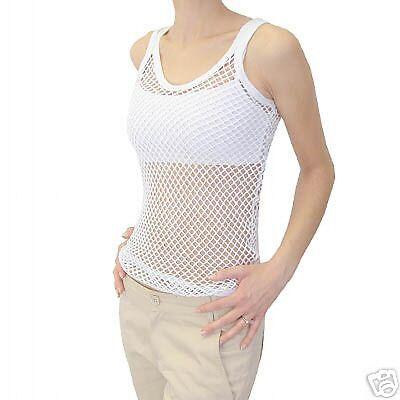 100% Cotton Weiß String Vest By Jungle - Größe Small - BRAND NEW x 100 Vests