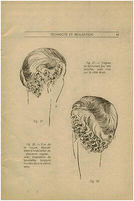 publicité ancienne femme technique coiffure mode année 40 No 18