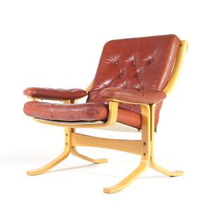 Retro-Vintage-Swedish-Ekornes-Leather-Easy-Lounge-Armchair-Chair-60s-70s-Danish