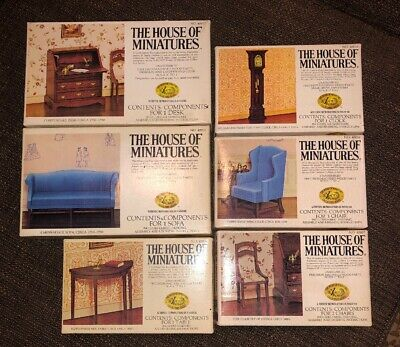 DOLL HOUSE OF MINIATURES SIDE CHAIRS 2 CHAIRS TOTAL Per Box
