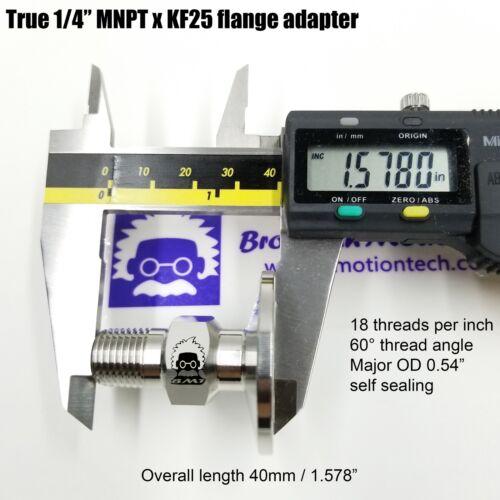 "1//4/"" Male NPT to KF25 Flange fitting MNPT HKG"