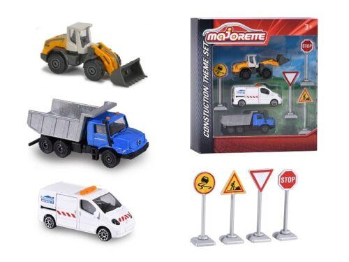 aprox 7,5cm Majorette 212058584-construction theme set con 3 vehículos-nuevo