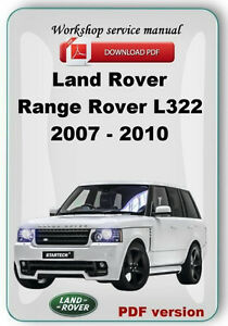 land rover range rover l322 2006 2007 2008 2009 2010 factory service rh ebay ie 2008 range rover hse owners manual 2008 range rover sport supercharged owners manual