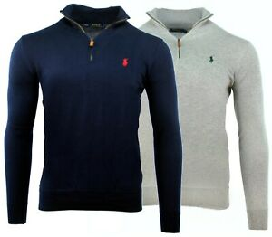 PULL-RALPH-LAUREN-HOMME-COL-ZIP-1-4-0-E-U-R-O-S-TOUTES-TAILLES-NEUF