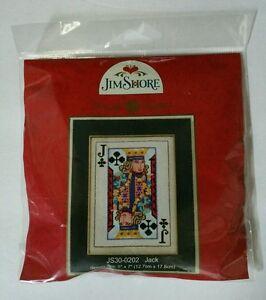 Jim-Shore-Jack-of-Clubs-Cross-Stitch-Kit-Gambling-Poker-Card-Mill-Hill-Beads