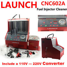 New Launch CNC602A Petrol Fuel Ultrasonic Injector Cleaner + 110V/220V Converter