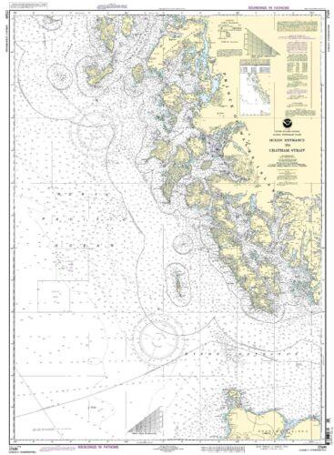 NOAA Chart Dixon Entrance to Charham Strait 18th Edition 17400