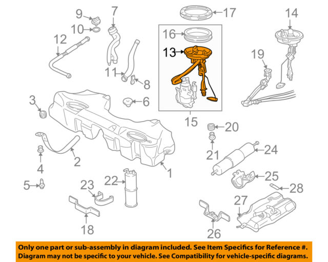 For 2001-2003 BMW 530i Fuel Level Sending Unit Right Genuine 57438FK 2002